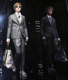 Varvatos's men's Spring-Summer 2014 collection unveiled in Milan in June.